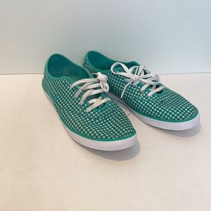 Nike Green and white checkered sneakers shoes 8.5